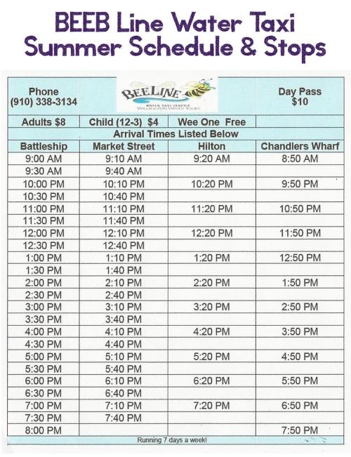 BEEB-Line-Schedule-Stops